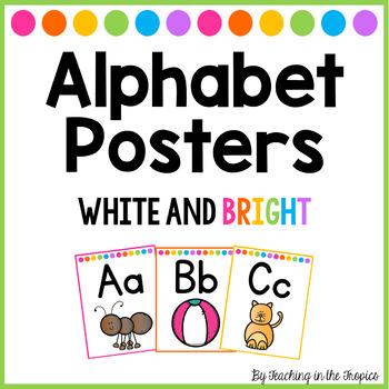 White and Bright Alphabet Posters (Manuscript)
