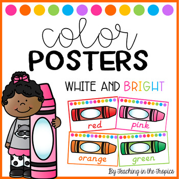 White and Bright Color Posters (D'Nealian)