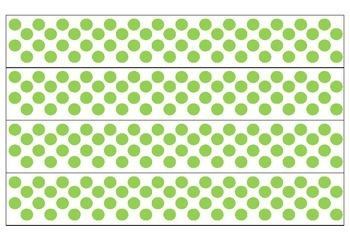 White and Green Polka Dot Borders