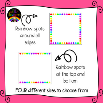 White and Rainbow Spot Square Labels {EDITABLE!}