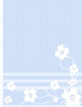 White and blue flowers background