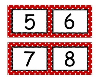 White board number line