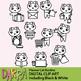 White cat clip art / planner chore routine clipart