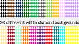 White diamond backgrounds