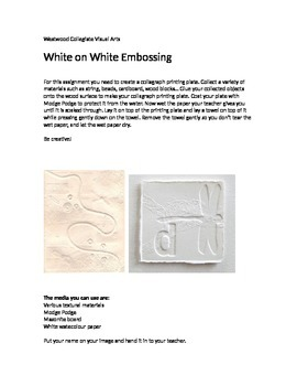 White on White Embossing