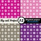 White snowflakes pattern on 12 bright colors backgrounds D