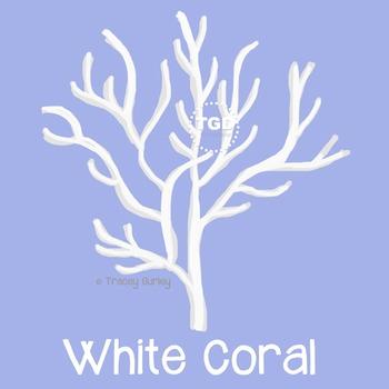 WhiteCoral, style 3 on Transparent Background Printable Tr