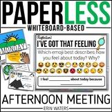 Whiteboard Afternoon Meeting {20 Weeks of Paperless Meetings}