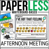 Whiteboard Afternoon Meeting | 20 Weeks Paperless Meetings