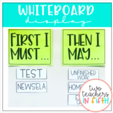 Whiteboard Display [First I Must...Then I May...]