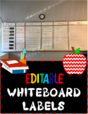 Whiteboard Idea with Labels (EDITABLE) and pictures included