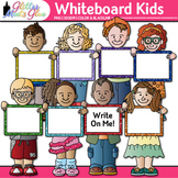 Whiteboard Kids Clip Art: Back to School Graphics {Glitter