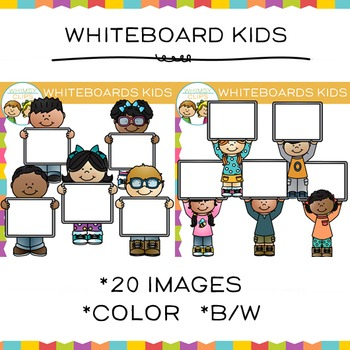 Whiteboard Kids Clip Art