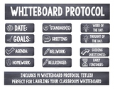Whiteboard Labels Chalkboard Background | Back to School