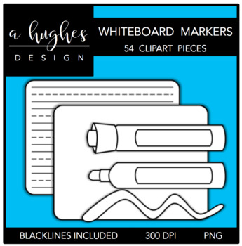 Whiteboard Markers Clipart {A Hughes Design}