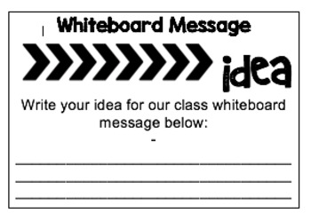 Whiteboard Message Student Responses