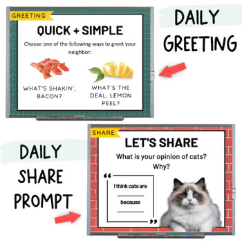 Morning Meeting Slides | Google Classroom | Distance Learning | Back to School