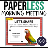 Morning Meeting Slides | Activities , Greetings, Share | D