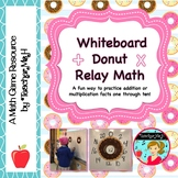 Whiteboard Relay Math Fact Game