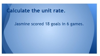 Unit Rate Review (Whiteboard)