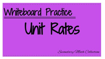 Whiteboard Review: Unit Rate