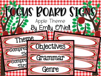 Focus Board Signs (Apple Theme)