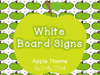 Focus Board Signs (Apple Theme)