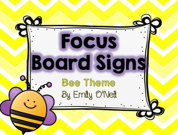 Focus Board Signs (Bee Theme)
