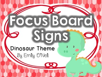 Focus Board Signs (Dinosaur Theme)