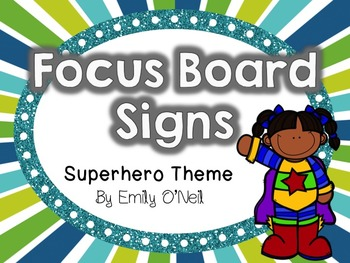 Focus Board Signs (Superhero Theme)