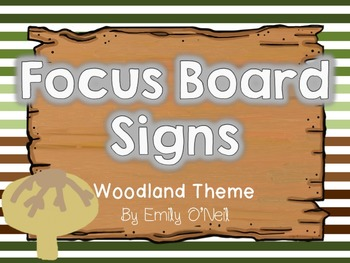 Focus Board Signs (Woodland Theme)