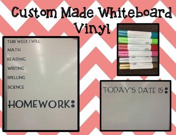 Whiteboard Vinyl