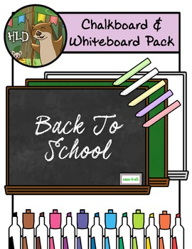 Free Whiteboard and Chalkboard Mega Pack - Clipart