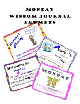 Whiteboard of Wisdom Prompts - Mondays