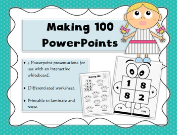 Whiteboard practice PowerPoints, 100 number bonds