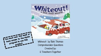 Whiteout! by Rick Thomas Comprehension Questions for MyOn