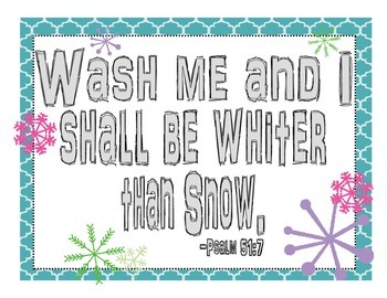 Whiter Than Snow Religious Poster