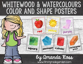 Whitewood & Watercolours Colour & Shape Posters