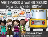 Whitewood & Watercolours How Do We Get Home? Clip Chart - Editable