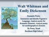 Walt Whitman and Emily Dickenson Activities and Lesson Plans