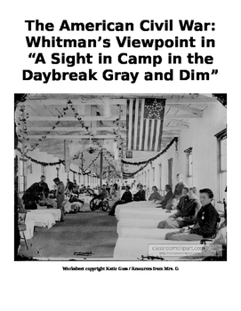 """Whitman's """"A Sight in Camp"""" and Paired Informational Text Analysis"""