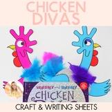 Whitney and Britney Chicken Divas Craftivity (Craft and Writing Activity)