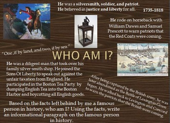 3rd Grade Historical Figures- Who Am I?