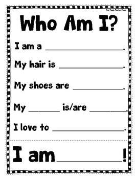 Who Am I? A Getting to Know Your Classmates Activity