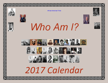 Who Am I? African Americans Trivia 2017 Calendar