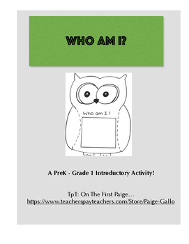 Who Am I? An Introductory Activity