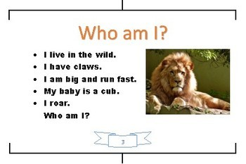 Who Am I? Animals with Pictures - Online ESL Flash Cards - VIPKID