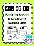 Who Am I? Back to School Activity