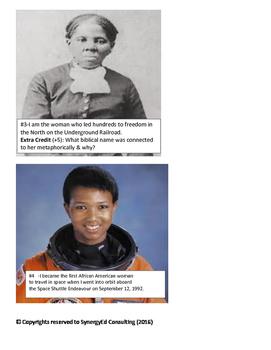 Who Am I? Black History Interactive Door OR Wall display