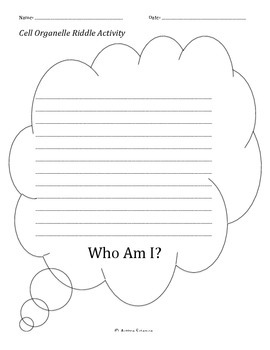 Who Am I? Cell Organelle Riddle Activity